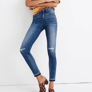 "Madewell 9"" high rise skinny jeans sz 26"
